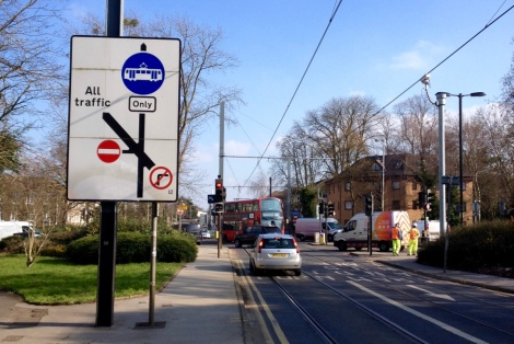 Addiscombe and Chepstow Rd junction