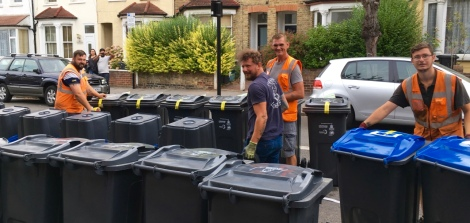 new recycling bins