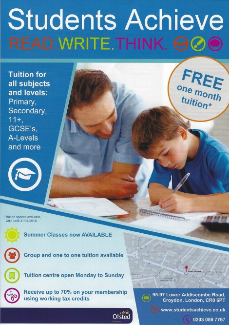 Student Achieve offer