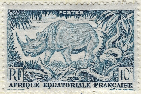 West African animal stamp