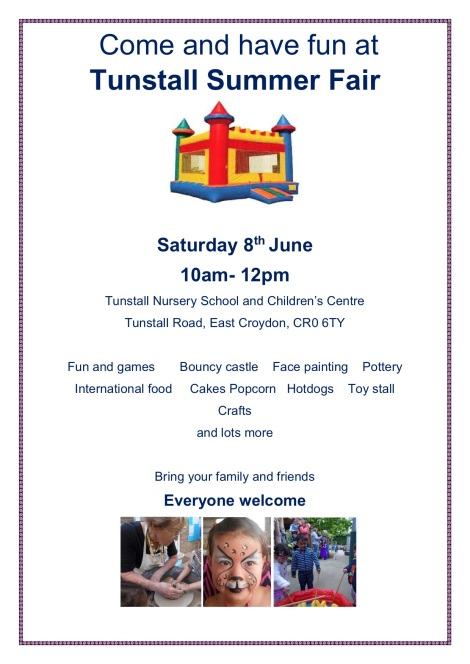 Tunstall Summer Fair poster 2019